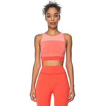 Jerf Womens Lima Red Melange Seamless Crop Top
