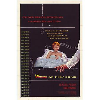 Wicked as They Come Movie Poster (11 x 17)