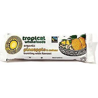 Tropical Organic & Fairtrade Pineapple, Cashew Bar 40g x24