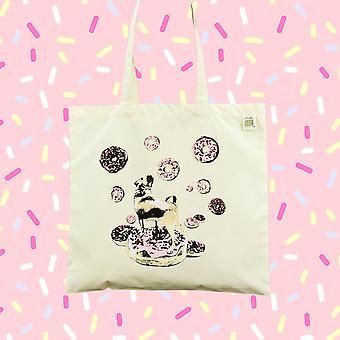 Donut Pug Tote Bag