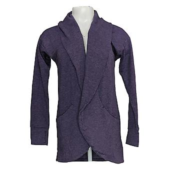 Cuddl Duds Women's Sweater Franse Terry Cardi Wrap Purple A293088