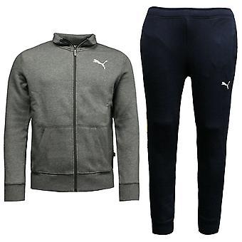Puma Mens Style Sweat Suit Cl Tracksuit Top Joggers Grey Navy 851555 03 A92D