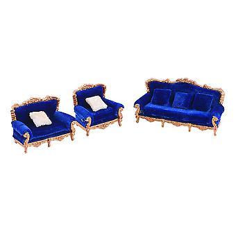 1:25 Dollhouse Miniature European Retro Sofa Model home Accessories Decoration