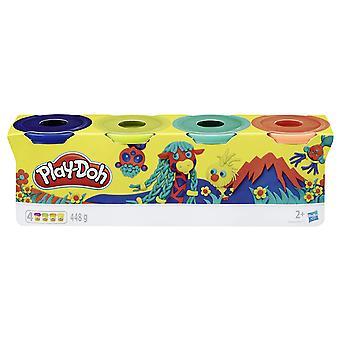 Play-Doh Hasbro Wild mørk blå, lime grønn, turkis, oransje