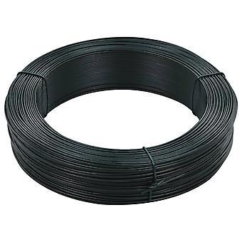 vidaXL Fence Binding Wire 250 m 1.4/2 mm Steel Black Green