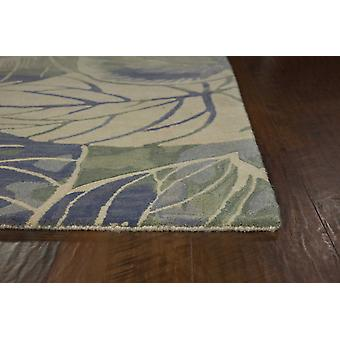 3' x 6'  Wool Blue or  Green Area Rug
