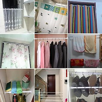 Shower Curtain Rods And Accessories Pole Hanger Spring Loaded Bathroom Product