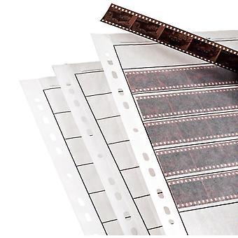 25 X negative filing sheets for 35mm film. acid-free, archival safe. premium waxed paper archive sto
