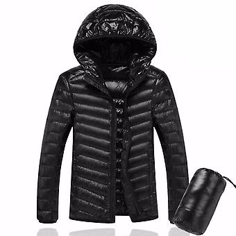 Homme Ultralight Duck Down Warm Jacket Line Portable Package Pack