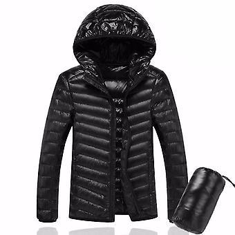 Men Ultralight Duck Down Warm Jacket Line Portable Package Pack