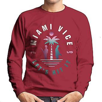 Miami Vice FL US Lets Hit It Men's sudadera