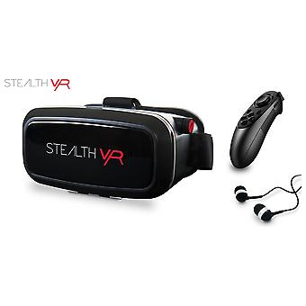 Stealth VR100 Virtual Reality Black Headset Bundle (iOS & Android)