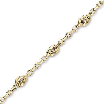 Jewelco London 9ct Gold Oval Motiv Halskette Armband