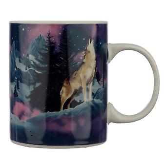 Tazza di porcellana da collezione - protettore del lupo del nord