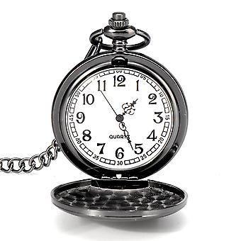 Deffrun Fashion Alloy with Necklace Chain Quartz Pocket Watch Mother Day Gift