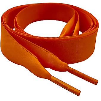 Tangerine Orange Satin Ribbon Shoelaces Laces