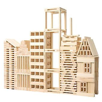Wooden Domino Blocks Free Pile Tower Building Intellectual Educational (wood)