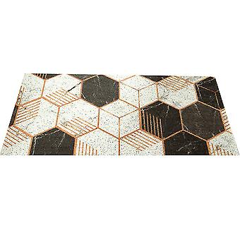 Non Slip Mat Washable Geometric Pattern Floor Mat