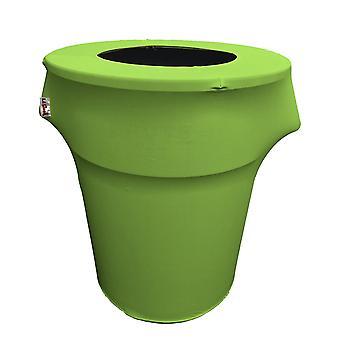 La Linen Stretch Spandex Trash Can Cover 44-Gallon Round,Lime
