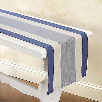 """Spura Home Indiai kézzel készített csíkok Indigo Decor Table Runner 14""""x72"""""""
