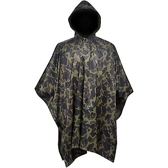 Army Style Rain Poncho For Camping Hiking