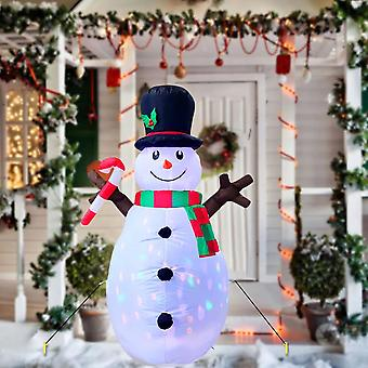 Inflatable Snowman Blow Up Christmas Decorations With Led Lights For Home