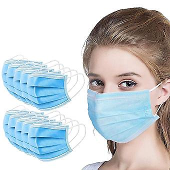 Face Mouth Mask 3-layers Non Woven Disposable Protective Mask