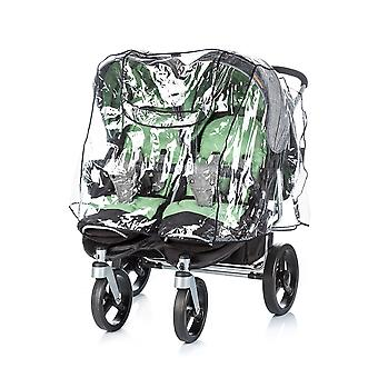 Chipolino Universal Rain Protection Twin Stroller, Double Seater Rain Hood