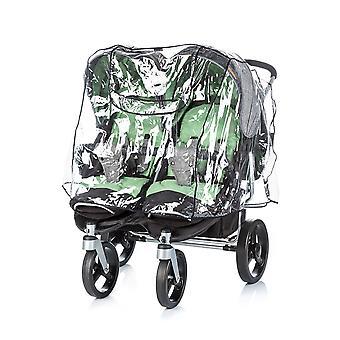 Chipolino universele regen bescherming Twin kinderwagen, dubbele zits regen kap