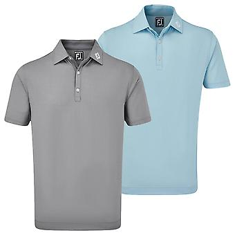Footjoy Mens Micro Jacquard Wicking UV Lightweight Polo Shirt