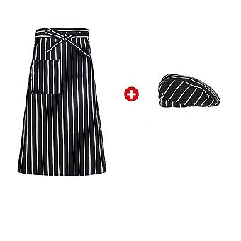 Chef Kitchen Cooking Aprons Work Dining Half-length Food Service Uniform