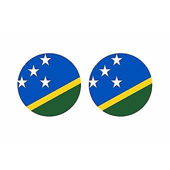 2x klistermärke klistermärke runda cocarde flagga öar salomon