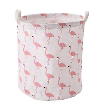 Cartoon Storage Box Dirty Clothes Basket Storage Bucket, Foldable Waterproof Bucket With Handle