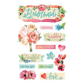 Paper House Productions - 3D Stickers - Bridesmaids
