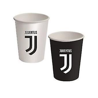 8 Juventus kartonnen bekers 266 ml