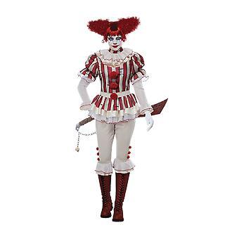 Womens Sadistic Clown Circus Carnival Fancy Dress Cstume