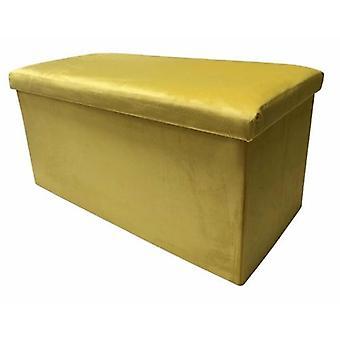 puff faltbar 76 x 38 x 38 x 38 cm Samt gold