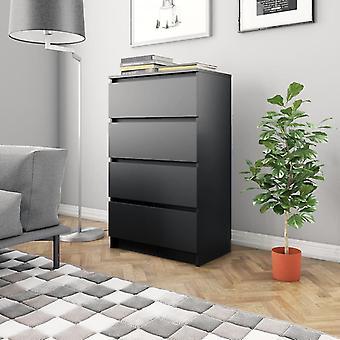 vidaXL Sideboard Black 60×35×98.5 cm chipboard