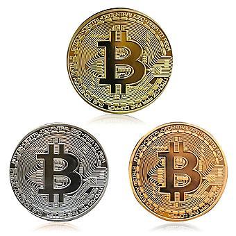 بيتكوين المعدنية المادية وهمية العملة- ميدالية تذكارية