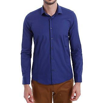 Blauw slimfit heren's shirt | wessi wessi