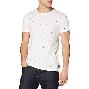 TOM TAILOR Denim Alloverprint T-Shirt, 25173-White Split Drop Pri, M Men's