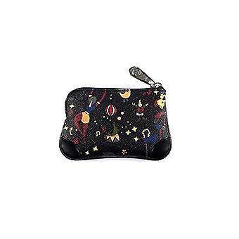 piero guidi Cosmetic Bag, Women's Day Pochette, Black (Black), 13x5x2 cm (W x H x L)(2)