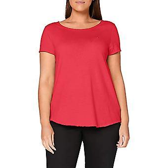 Hilfiger Denim Basic Knit Maglietta, Rosa (Rose Red 667), Large Donna