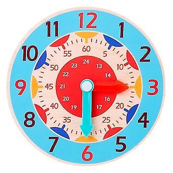 Dzieci montessori drewniany zegar nauczania zabawki pomocy