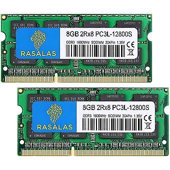 DDR3 16GB Kit (2 x 8GB) DDR3 1600 MHz PC3L-12800S Non ECC Unbuffered 1,35 V CL11 2Rx8 Dual Rank