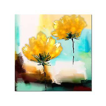 Het abstracte schilderen van de bloem