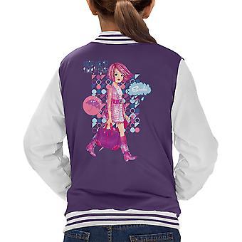 Sindy Drip Drop Time To Shop Kid's Varsity Jacket