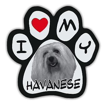 """מגנט, תמונה כפה, אני אוהב Havanese שלי, 5.5"""" X 5.5"""""""