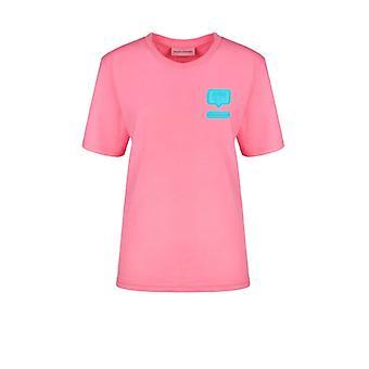 Chiara Ferragni Eyelike Pink Oversize T-shirt