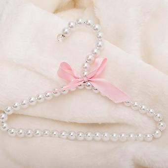 Children Pearl Hanger Fashion Dog Hangers For Bow Butterfly Clothes Baby Pearl